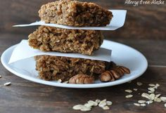 Maple Pecan Oatmeal Breakfast Bars Recipe - RecipeChart.com