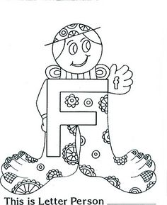 Letter People Coloring Pages. 20 Letter People Coloring Pages. This is Letter People Coloring Page You Can People Coloring Pages, Alphabet Coloring Pages, Animal Coloring Pages, Kindergarten Fun, Preschool Learning, Preschool Crafts, Pokemon Coloring, Alphabet Crafts, Letter F