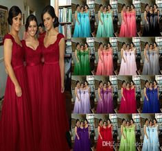Wholesale Bridesmaid Dresses - Buy 2014 Sexy Cheap Chiffon Wedding Bridesmaid Dresses Long Fashion Embroidery A Line Sweetheart Cap Sleeve Lace Burgundy Bridesmaid Gown, $86.92 | DHgate.com ~~~~ Light Purple!!!~~~~~
