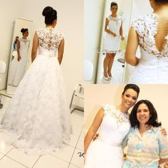 Wedding Dresses Gowns Vintage Ball Gown Wedding Dresses High Neck Sleeveless Long Bridal Gowns Removable Skirt 2 In 1 Style Robe De Mariage A Line Wedding Dresses Cheap From Cinderelladress, $150.95| Dhgate.Com