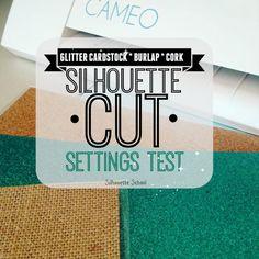 Glitter Card Stock: Perfect Silhouette Cut Settings (Plus Burlap and Cork)