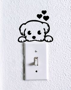 40 Cute and Creative Home Switchboard Art Installation - Bored Art Simple Wall Paintings, Creative Wall Painting, Wall Painting Decor, Creative Walls, Creative Home, Nursery Wall Stickers, Wall Decals, Wall Art, Etsy Crafts