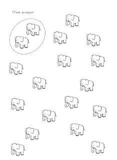 Begeleide of zelfstandige activiteit - Teken groepjes Jungle Activities, Classroom Activities, Kids Zoo, Elephant Crafts, Elephant Pictures, Math Worksheets, Cardmaking, Kindergarten, Teaching