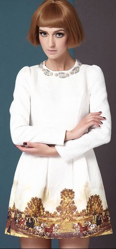 I'm totally ordering this dress tonight.... - Scenery Print Zipper Dress   dresslily.com