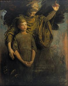 Le Prince Lointain: Abbott Handerson Thayer (1849-1921), Boy and Angel - 1918