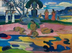 Paul Gauguin - Day of the Gods (Mahana No Atua), 1894. Oil on canvas, 26 7/8 x 36 in. (68.3 x 91.5 cm). Art Intitute of Chicago, IL, USA