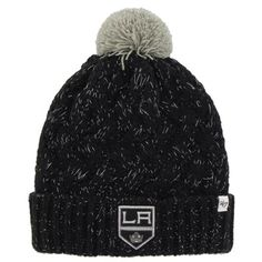 Womens Los Angeles Kings '47 Brand Black Fiona Knit Beanie