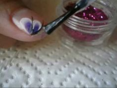diseño para uñas cortas con one stroke - one stroke short nails design