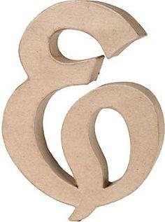 Ampersand Craft Letter