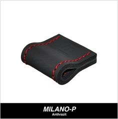 Modell MILANO-P in Anthrazit mit roter Naht