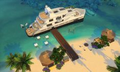 Sims Games, Pc Games, Living Room Sims 4, Sims Building, Sims Ideas, Sims 4 Build, Sims 4 Houses, Sims 4 Cc Finds, Luxury Yachts