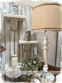 Shelves made from a real book painted white. **My Desert Cottage**: