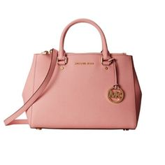 Michael Kors Sutton Satchel Bag; Dusty Rose I bought it online but I never used it                                                                                                                                                                                       • Comes with dust bag                                            NO TRADE✖️Price negotiable through the offer button only Last picture shows the actual size of this bag. Michael Kors Bags Satchels