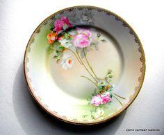 Romantic Bavarian Roses Vintage Floral by LionheartGalleries
