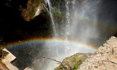 Double rainbow at a waterfall in Tosh, Himachal Pradesh!! #kasol #tosh #himachal India the himalayan village resort