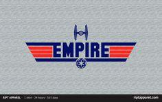 """Top Empire """"Top Empire"""" by Warren Hart aka famousafterdeath Star Wars meets Top Gun Sith, Star Wars Art, Star Trek, Pulp Fiction Shirt, Star Wars Merchandise, Geek Gear, Star Wars Tshirt, Top Gun, T Shirts"""