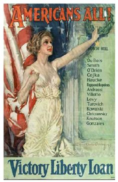 "American WWI poster, ""America's All! Victory Liberty Loan"""