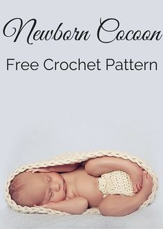 Free crochet pattern - newborn cocoon pod. A fun, quick and easy project. By Posh Patterns.