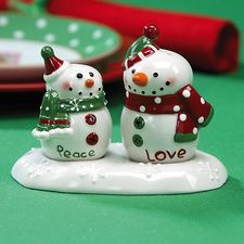 Snowman Salt and Pepper Shakers   Current Catalog