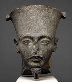 Head of the god Amun, New Kingdom, post-Amarna period, Dynasty 18, reign of Tutankhamun, ca. 1336–1327 B.C.  Egypt  Granodiorite