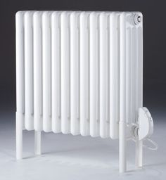 MHS Multisec White Steel 4 Column Electric Thermostatic Radiator - H Electric Radiators, Cast Iron Radiators, Electric Towel Rail, Column Radiators, Towel Radiator, Steel Columns, Designer Radiator, Cleaning Materials, Aluminum Radiator