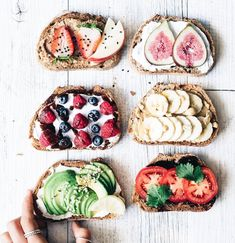 Love a variety and colorful foods for breakfast. I would eat all of these!