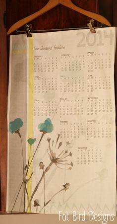 2014 tea towel calendar by fat bird designs
