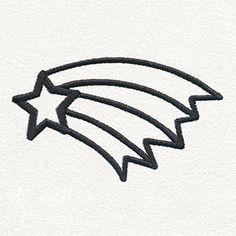 Daydream Doodles - Shooting Star design (UT15880) from UrbanThreads.com