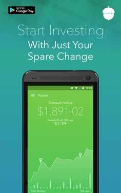 Save and invest your spare change by rounding up your everyday purchases. Learn how you can change your future the easy way. Download Acorns Today!�