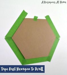 mini hexas for faux tile back splash in kitchen? - How To Tape & Paint Hexagon Patterned Wall
