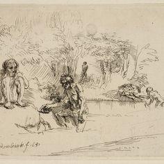 Rembrandt, Baders ( B 195 ), 1651. Teylers Museum