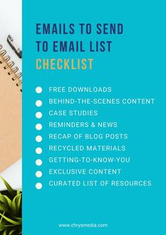 Use this checklist t