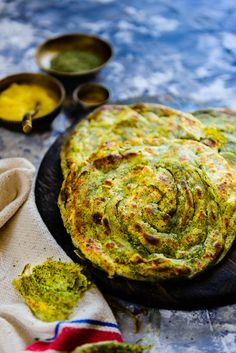 Pudina Laccha Paratha is a flaky Indian bread flavoured with dry mint powder. It is the perfect choice to pair with rich Indian curries. Here is how to make it.