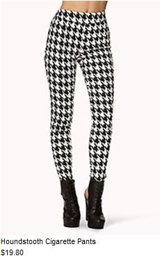 c0f419ea9f Houndstooth cigarette pants Rocker Chic Style