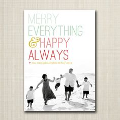 christmas photo card - ombre holiday.