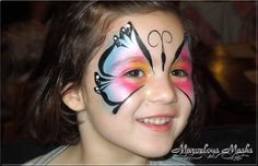 Butterfly Design Face Painting