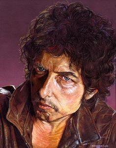 Bob Dylan Print By Tim  Scoggins
