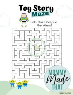 These fun maze activity games will keep your kids buys and get them in the Toy Story spirit. Toy Story Game, New Toy Story, Toy Story Party, Toy Story Birthday, 2nd Birthday, Maze Games For Kids, Mazes For Kids, Printable Mazes, Free Printable