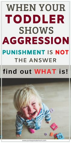Hitting, kicking, pushing, biting, trowing things - are all different types of toddler aggression. There are gentle ways you can deal with your toddler's aggressive behavior instead of time outs or punishment. Parenting Toddlers, Parenting Books, Gentle Parenting, Peaceful Parenting, Parenting Quotes, Parenting Advice, Toddler Behavior, Toddler Discipline, Positive Discipline