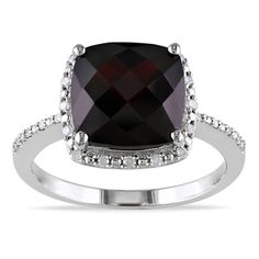 @Overstock.com - Garnet and round-cut diamond cocktail ringSterling silver jewelryClick here for ring sizing guidehttp://www.overstock.com/Jewelry-Watches/Miadora-Sterling-Silver-Garnet-and-1-10ct-TDW-Diamond-Ring-G-H-I1-I2/7518904/product.html?CID=214117 $121.49