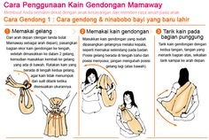 cara penggunaan kain gendongan baby sling