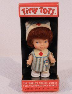 """1960's """"Tiny Tots"""" Nurse Doll"""