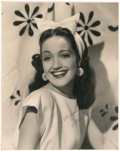 Actress and singer Dorothy Lamour was born today 12-10 in 1914. She was a big band singer in the early-mid 30s before her film career came calling. She's often remembered most for her Road Pictures with Bob Hope and Bing Crosby. She appeared in musical theater/stage plays and on TV in her years following her film career. She passed in 1996.