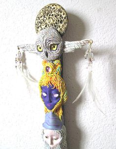 Totem Wall Sculpture by JanePriserArts on Etsy