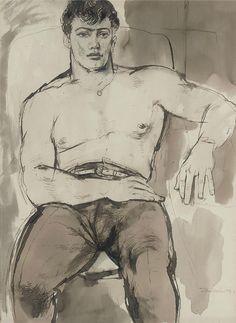 Portrait of Norman Bowler / John Minton, 1951