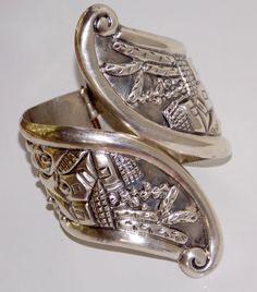 Vintage Taxco Silver Clamper Bracelet.