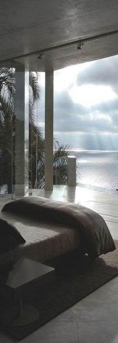 Amazing beach house bedroom view
