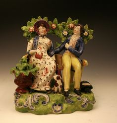 Early Antique Staffordshire Figures - Antique Staffordshire Pottery of John Howard