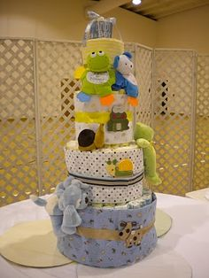 Frogs Snails and Puppy Dog Tails Diaper Cake