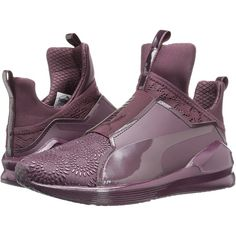 PUMA Fierce KRM (Winetasting/Red Plum) Women's Shoes ($53) ❤ liked on Polyvore featuring shoes, red, pull on shoes, cushioned shoes, grip shoes, puma footwear and red shoes